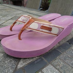 Coach Wedge Flip Flops Sandals Juliet size 10